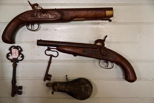 R. L. Stevenson Museum weapons 02