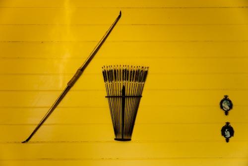 Robert Louis Stevenson Museum bow and arrows