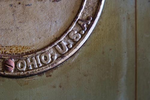 R. L. Stevenson Museum safe detail