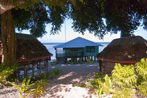 Satuiatua beach fales back view
